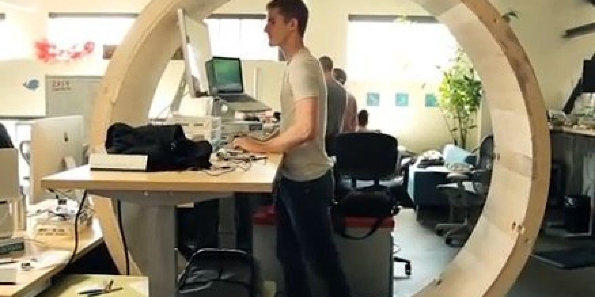 Une roue de hamster géante pour ne plus rester assis toute la journée au bureau