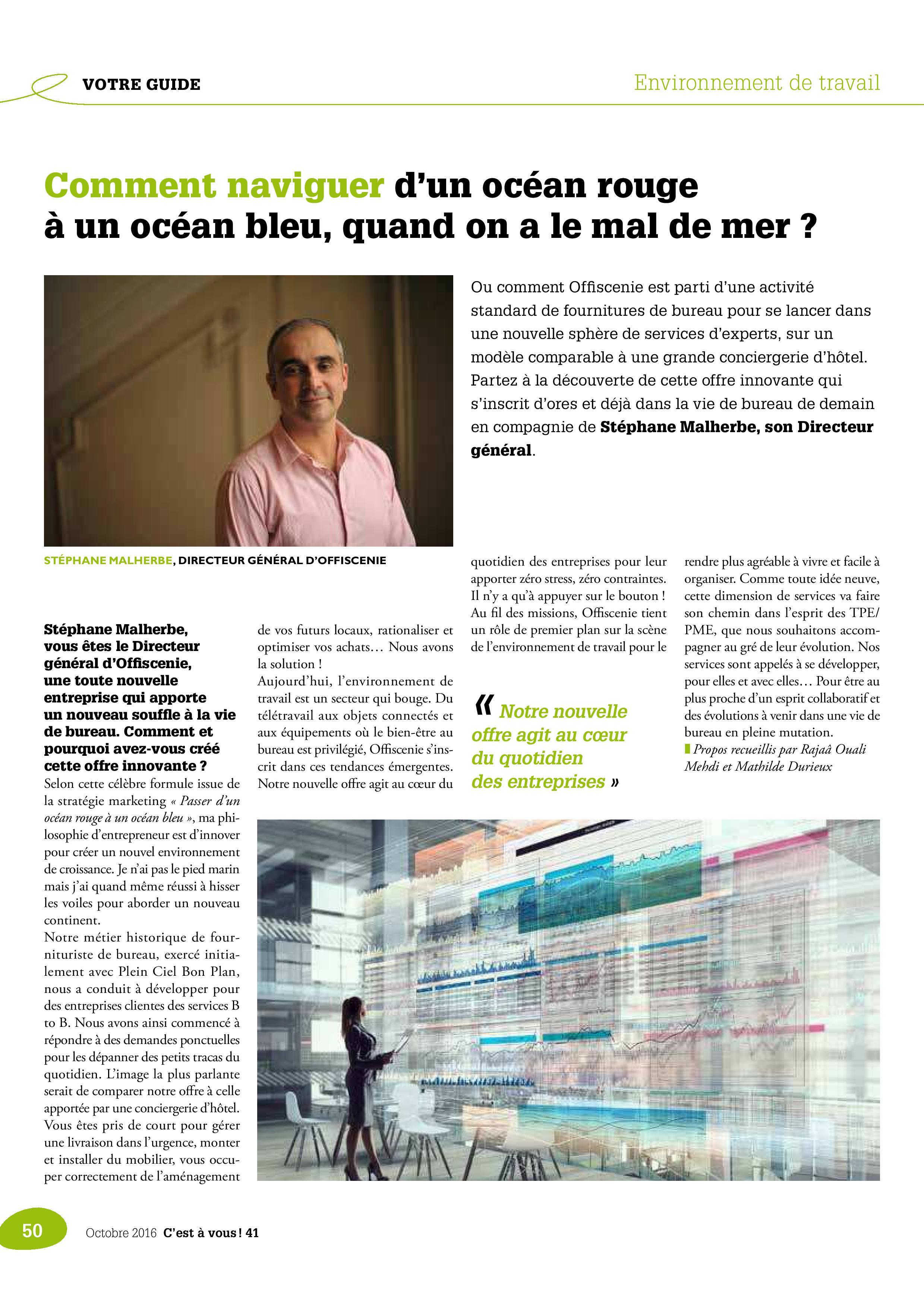 C'est à vous n°41 interview Stéphane Malherbe