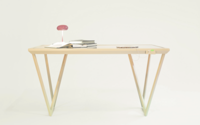 Découvrez la table qui recharge votre smartphone